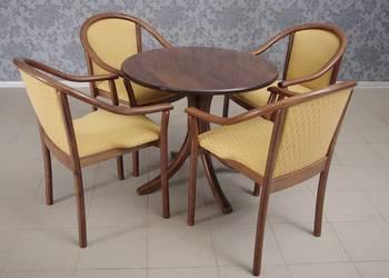Stół i 4 krzesła z podłokietnikami komplet 4921
