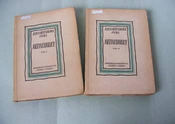 Melancholicy Tom 1 + 2 Eliza Orzeszkowa 1949 r