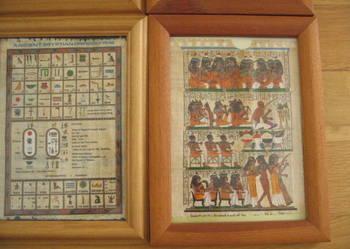 Papirusy egipskie w ramkach