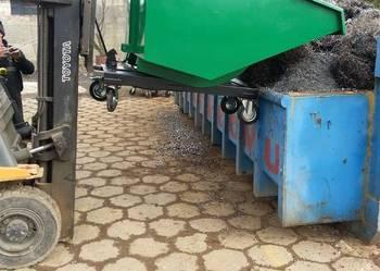 Koleba, kontener samowyładowczy 1m3 na śmieci, złom, gruz.