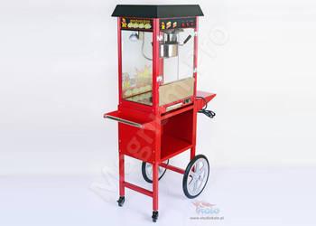 Maszyna do popcornu na wózku. Urządzenie do popcornu automat