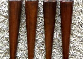 4 NÓŻKI PATYCZAKI PRL drewniane do komody szafki stołka