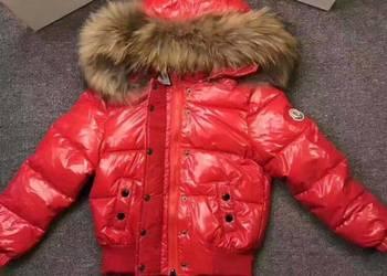 Dziecięce kurtki zimowe puchowe z jnaturalnym jenotem