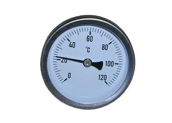 Termometr tarczowy mechaniczny bimetaliczny tylny  0+120stC
