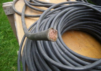 Sprzedam kabel linka, żyła - fi 14, długość -10.5m.