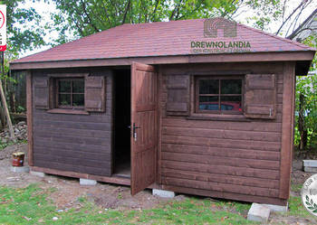 domek narzędziowy gospodarczy altana drewutnia3Drewnolandia