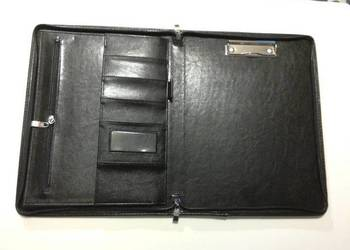 Teczka A4 ekoskóra Panta Plast czarna, większa ilość