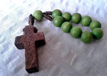 Drewniany Krzyż Brelok - NOWY!