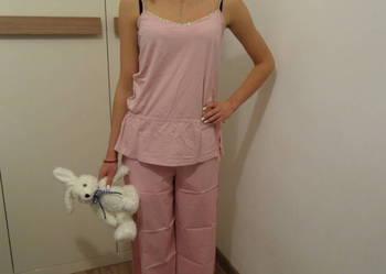 FF piżama do spania koszulka spodnie haft 10/36 różowa