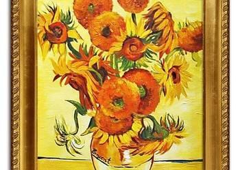 obraz olejny Vincent van Gogh słoneczniki kopia 63 x 84