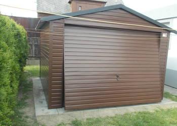 Garaż Blaszany Drewnopodobny 3x5 Garaże Blaszane Wiaty Hale