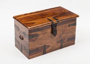 Indyjski kolonialny duży kufer eksluzywny skrzynia pojemnik pościel na szafka na buty 70x40 palisander rosewood sheesham