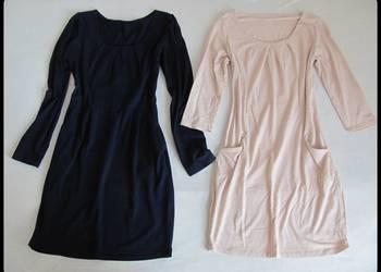 Dwie sukienki 38 M granatowa i łososiowa - cena za obie