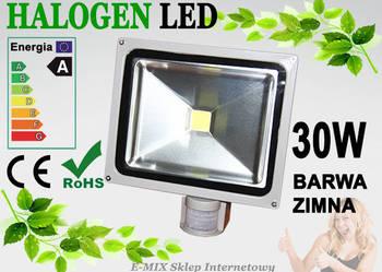 Halogen Lampa LED 30W z czujnikiem ruchu wodoodporny !!!