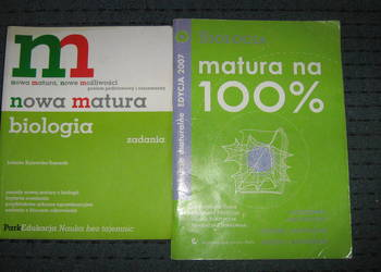 Sprzedam pomoce naukowe do matury - chemia i biologia