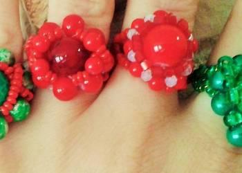 pierścionki plecione z koralików MODNE W TYM ROKU