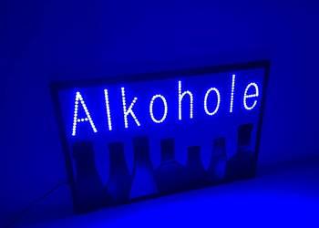 Reklama LED neon91x 61cm zewnętrzna ALKOHOLE