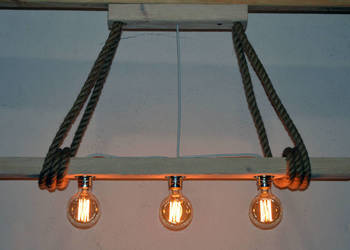 Lampa wisząca stara belka drewniana LOFT VINTAGE