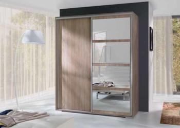 Pojemna szafa LEO przesuwane drzwi do sypialni przedpokoju