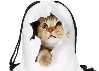 Kot plecak worek NOWY 3d tornister szkoła plecaczek różne
