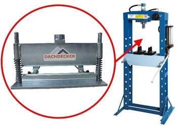 Krawędziarka- narzędzie do prasy hydraulicznej Dachdecker