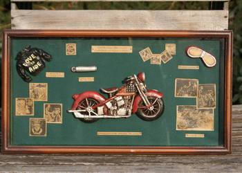 Obraz diorama motor motocykl motoryzacja 52cm x 28cm
