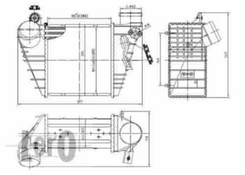 INTERCOOLER - SEAT TOLEDO II / SKODA OCTAVIA (1U2) 9/1996=>