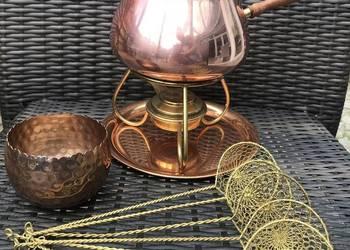 Fondue miedziane zestaw do fondue z miedzi garnek miedziany