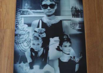 Audrey Hepburn - plakat filmowy trójwymiarowy 3D - duży