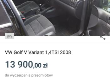 VW Golf Variant model 2008 1.4 TSi