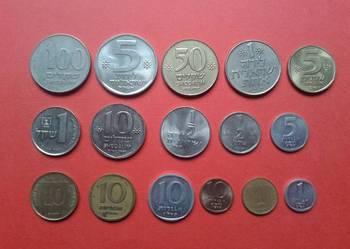 Monety Izrael 16 sztuk