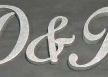 Dekoracjeślubne Inicjały Imiona Napisy litery ze styroduru
