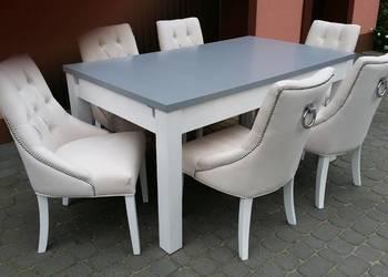 Krzesło chesterfield z kołatką pinezkami tapicerowane nowe