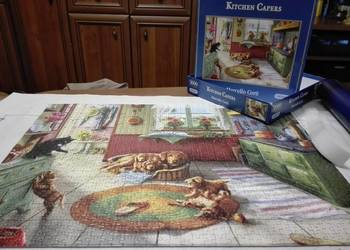 Puzzle Kitchen Capers Psy i kot w kuchni Gibsons 1000 KOMPLE