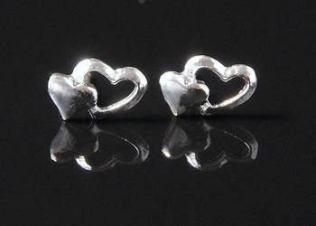 VERSIL kolczyki sztyfty serca serce heart SREBRO 925
