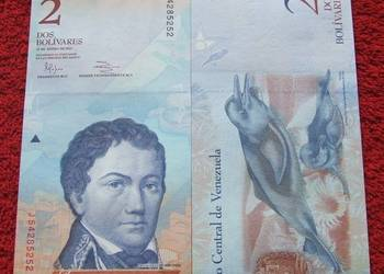 WENEZUELA 2 Bolivary DELFIN Kolekcjonerski Banknot 1 szt UNC