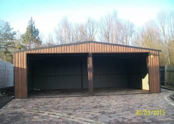 garaż blaszany bramy garażowe wiaty garaze 7X5 WZMOCNIONY