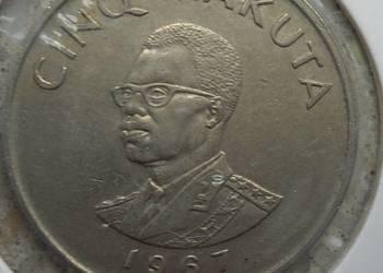 KONGO-5 MAKUTA-1967 r-RZADKA (W HOLDERZE)