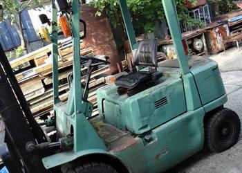 wózek widłowy mitsubishi fd 20 uszkodzony