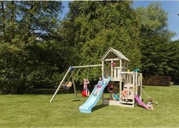 HIT Drewniany plac zabaw dla dzieci ścianka piaskownica