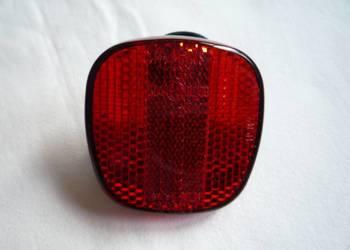 Czerwony odblask rowerowy z obejmą tył