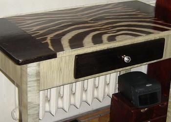 biurko decoupage ZEBRA