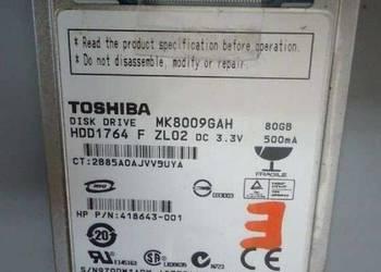 100% sprawny dysk twardy 80GB 1,8 cala ZIF TOSHIBA MK8009GAH