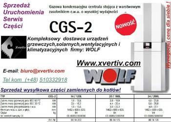 Wolf CGS 2 14/120L 20/160 24/200 Gazowy Kondensacyjny kocioł