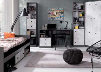 Nowoczesne łóżko z szufladą 90x200 TOMMY