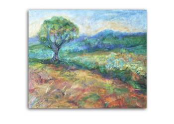 Obraz olejny - Pejzaż z drzewem