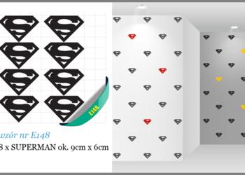 NAKLEJKI dla dzieci SUPERMAN na meble ścianę ścienne 9cm