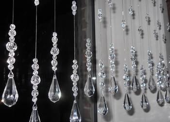 Kryształki na okno 100 cm MAKARONY firana NOWOŚĆ