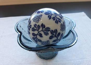 kula dywanowa  XIX wiek, ręcznie malowana porcelana, antyk