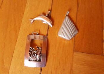 Trzy srebrne zawieszki